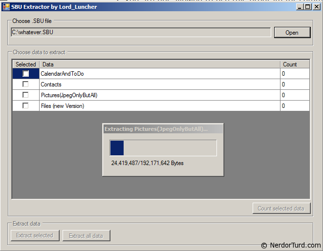 SBU Extractor for Samsung Backup Files